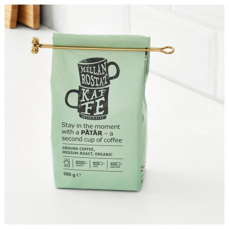 Мерная ложка для кофе и зажим ТЕМПЕРЕРАД латунь фото 2